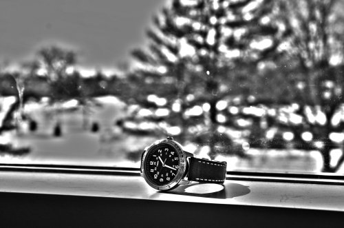 My watch on the windowsill